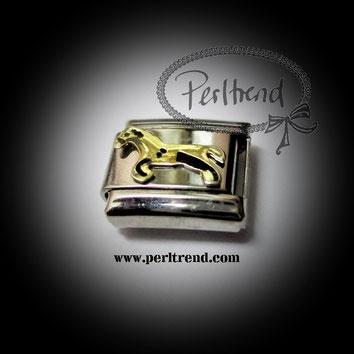 www.perltrend.com charm armband schmuck module horse pferd
