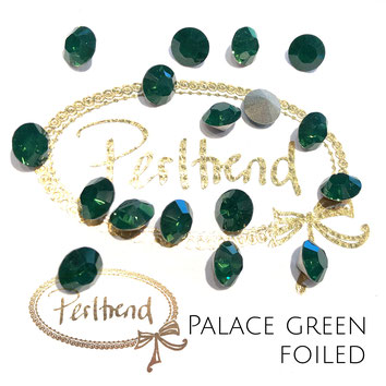 Perltrend Luzern Schweiz Onlineshop Schmuck Perlen Accessoires Verarbeitung Design Swarovski Crystals Crystal original Xilion 1028 Chaton Round Stone Crystal facettiert 8 mm Palace Green