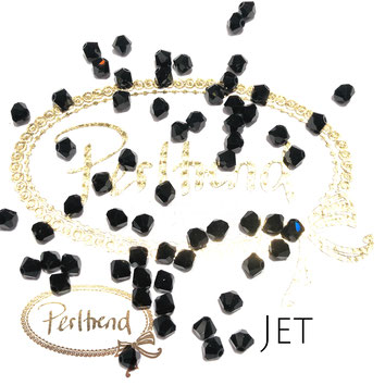 Perltrend www.perltrend.com Luzern Schweiz Onlineshop Schmuck Perlen Swarovski Crystals Bicone beads bead Doppelkegel 4mm Jet schwarz