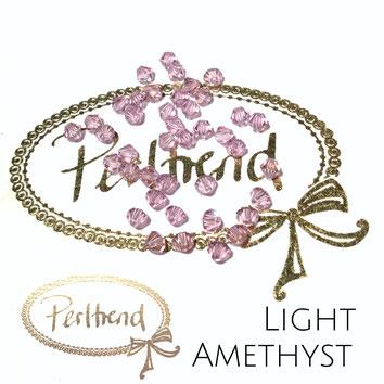Perltrend www.perltrend.com Luzern Schweiz Onlineshop Schmuck Perlen Swarovski Crystals Bicone beads bead Doppelkegel 4 mm Light Amethyst