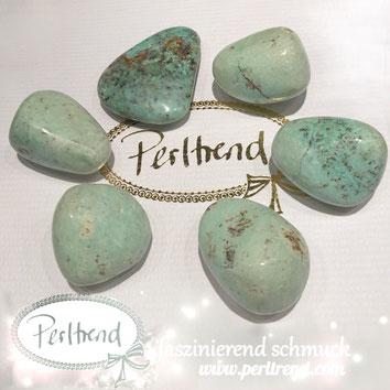 www.perltrend.com Edelsteine Gemstones Steine Perlen Heilsteine Schmuck Schmuckdesign Perltrend Luzern Schweiz Onlineshop Alkalifeldspat Trommelstein