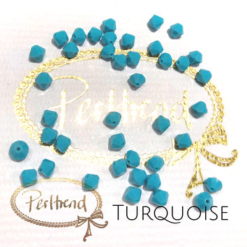 Perltrend www.perltrend.com Luzern Schweiz Onlineshop Schmuck Perlen Swarovski Crystals Bicone beads bead Doppelkegel Turquoise 5 mm