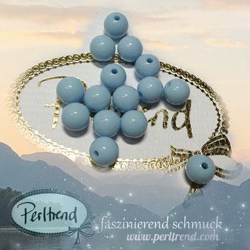 Perlen www.perltrend.com Jewel  Jewellery Jewelry Schmuck Luzern Schweiz Online Shop Acrylperlen Acryl DIY basteln Schmuckdesign Dekoration  glänzend hellblau himmelblau babyblau pastellblau blau hell pastell himmel baby blue