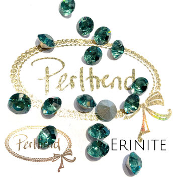 Perltrend Luzern Schweiz Onlineshop Schmuck Perlen Accessoires Verarbeitung Design Swarovski Crystals Crystal original Xilion 1028 Chaton Round Stone Crystal facettiert 8 mm Erinite grün green