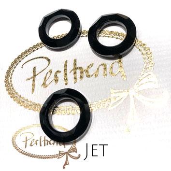 www.perltrend.com Swarovski Crystal Elements original Crystals Perltrend Luzern Schweiz Onlineshop Schmuck Jewellery Schmuckverarbeitung Cosmic Ring Jet 20 mm schwarz