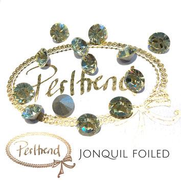 Perltrend Luzern Schweiz Onlineshop Schmuck Perlen Accessoires Verarbeitung Design Swarovski Crystals Crystal original Xilion 1028 Chaton Round Stone Crystal facettiert 8 mm Jonquil
