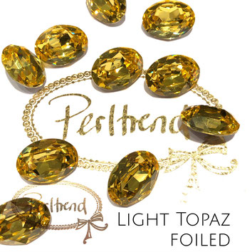 Perltrend Luzern Schweiz Onlineshop Schmuck Perlen Accessoires Verarbeitung Design Swarovski Crystals Crystal original  Fancy Stone oval 18 mm facettiert Light Topaz