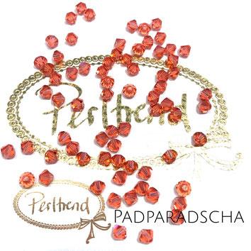 Perltrend www.perltrend.com Luzern Schweiz Onlineshop Schmuck Perlen Swarovski Crystals Bicone beads bead Doppelkegel 4 mm Padparadscha