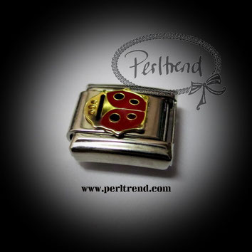 www.perltrend.com charm module armband schmuck tiere Ladybug Glückskäfer Marienkäfer