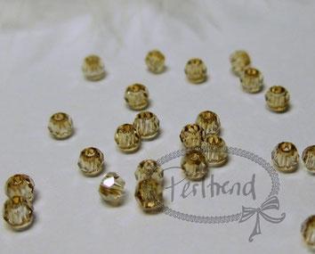 Perltrend Luzern Schweiz Onlineshop Schmuck Perlen Accessoires Verarbeitung Design Swarovski Crystals Crystal original Facet  Bead Crystal Golden Shadow facettiert 2 mm rund