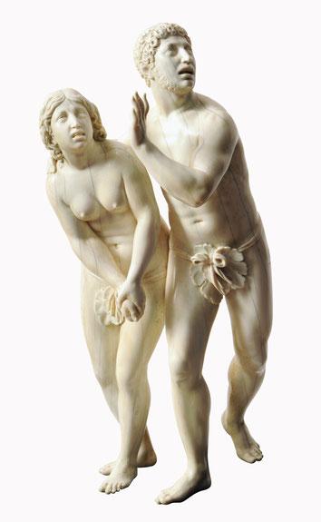 Adam und Eva nach der Vertreibung aus dem Paradies  Leonhard Kern, 1645/50. Eigentum der Stiftung für die Hamburger Kunstsammlungen