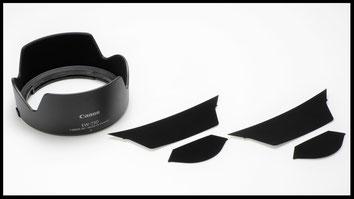 ファインシャット レンズフード内面反射防止キット EW-73D