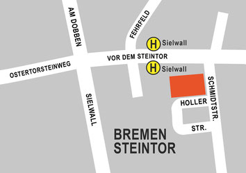 Lageplan: Hollerhaus im Steintor