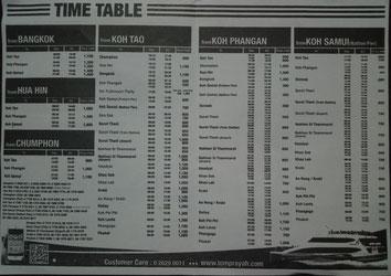 fähre koh samui Lomprayah koh samui timetable