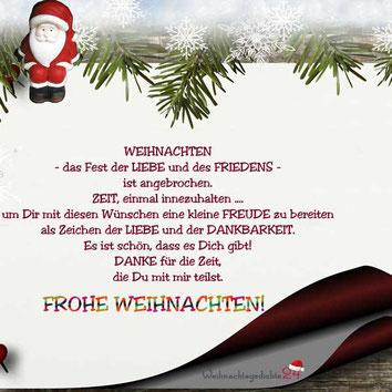 Liebevolle Weihnachtswünsche