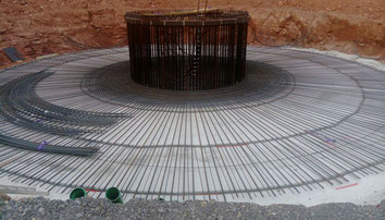 Stillfüssel: WKA 1 Fundament wird gegossen