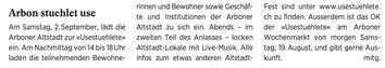 Wochenzeitung felix, 18.08.2017
