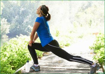 大腿四頭筋のストレッチ運動