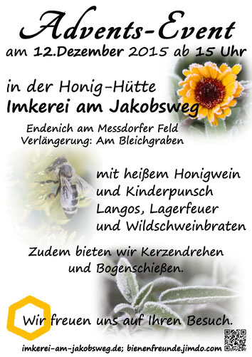 Advents-Event Plakat, Link zu Termine
