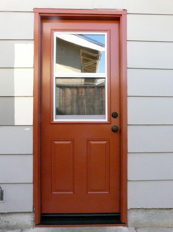 After prehung door painting and installation