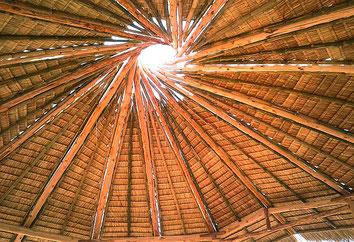 Bambus, Strohdach, Thaland