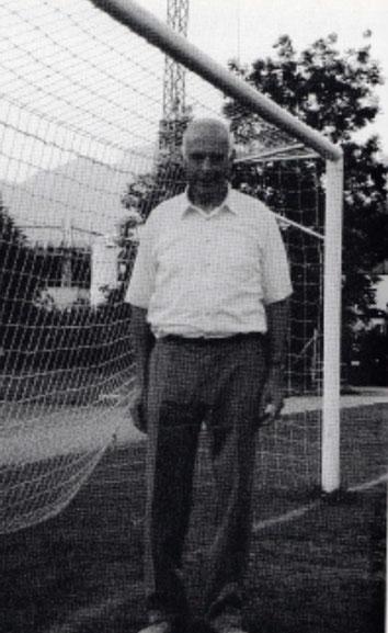 """Franz Hauser, unermüdlicher, jahrelanger Förderer des FC Näfels. ( Bild aus Jubiläumsschrift """"75 Jahre Fussball Club Näfels,  1996. Seite 26)"""