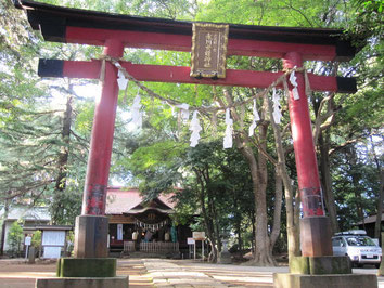 武蔵国一の宮氷川女體神社さまの鳥居へ「社号額」