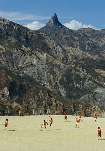 Bolivien, La Paz, Mallasa, Muela del Diabolo, Fussball