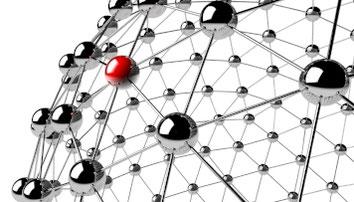 Netzwerk Verknüpfungen Kugel
