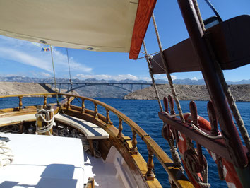 Holzyacht Motoryacht Divna ab Zadar, Sukosan, Sali Insel Dugi Otok