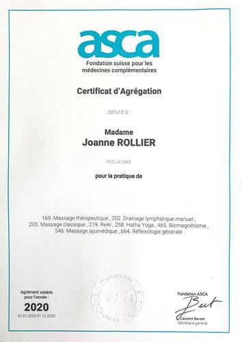 Accréditation ASCA - disciplines remboursées par les caisses maladies