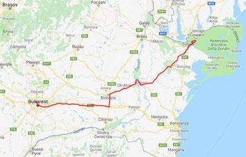Bukarest bis Tulcea (Donadelta) 325 km