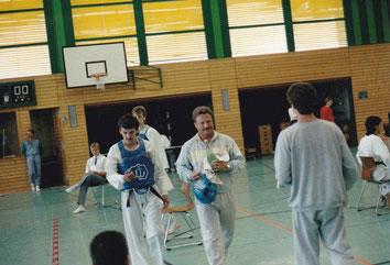 Markus Feistmantel und Gerhard Pfleghart bei Wettkampf 1988