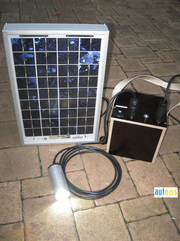 Micro-PV system for LED light and cell phone charging - Honduras