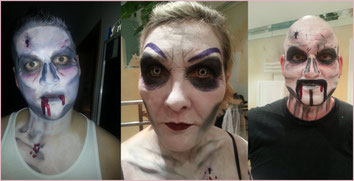 Horrorgesichter zu Halloween