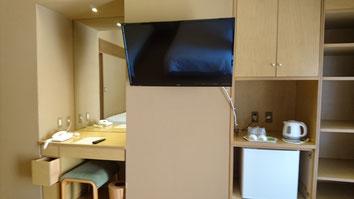 客室内備品(液晶TV、冷蔵庫等)