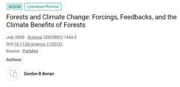 Les bénéfices climatiques des forêts par Bonan