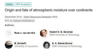 Origines et destin de l'humidité sur les continents et le rôle des massifs foretiers