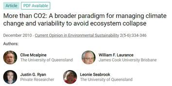 Le rôle des massifs forestiers va au delà de la capacité à absorber du CO2.