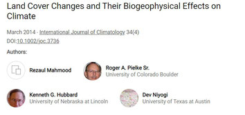 Changement de couverts des sols et effets biogéophysiquesur le climat.