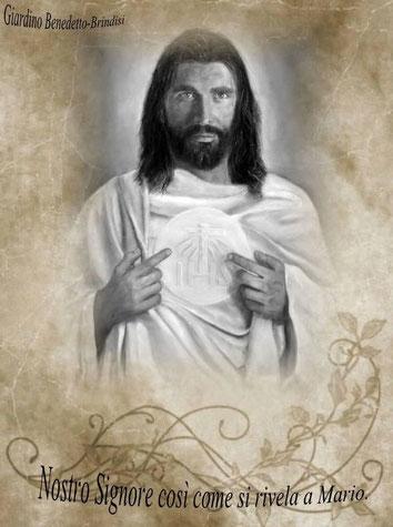 Anmerkungen:  (1)      Inzwischen wurde ihm im August ein Gemälde von Jesus geschenkt. (siehe Foto)