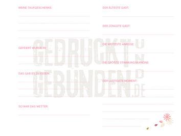 Taufbuch mit bedruckten Innenseiten Seite 5 Seite zum Ausfüllen Daten Täufling