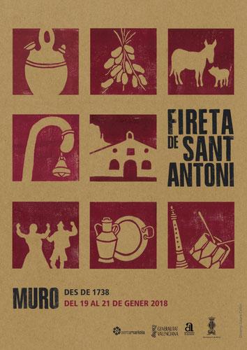 Programa de la Fireta de Sant Antoni en Muro de Alcoy