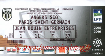 Ticket  Angers-PSG  2015-16
