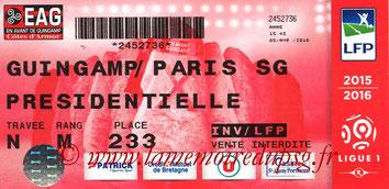 Ticket  Guingamp-PSG  2015-16