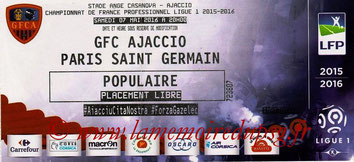 Ticket  Ajaccio-PSG  2015-16