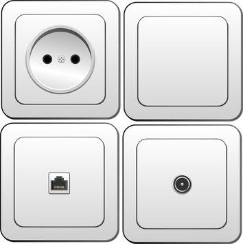 Schalter Steckdosen im Shop 24 / 7 günstig kaufen