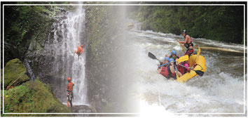Combination deal:  Rafting tour and Canyoneering