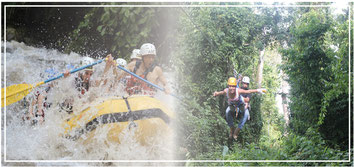 Arenal Combo Tour: Rafting 2 & 3 or 3 & 4 + Arenal Canopy Tour