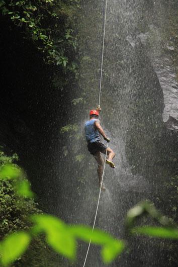 Canyon, Canyoneering, Waterfall rappel, Arenal Volcano Costa Rica